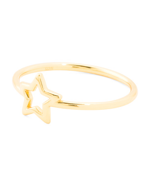 Made In Usa 18k Gold Vermeil Sterling Silver Star Ring