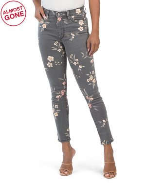 The High Rise Charlie Painted Blossom Jeans