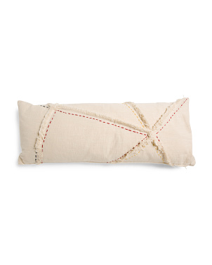 14x36 Textured Applique Lumbar Pillow