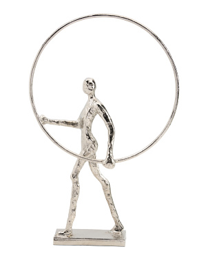 20.75in Man With Ring Sculpture
