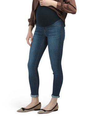 Maternity Over The Belly Baby Roll Cuff Jeans