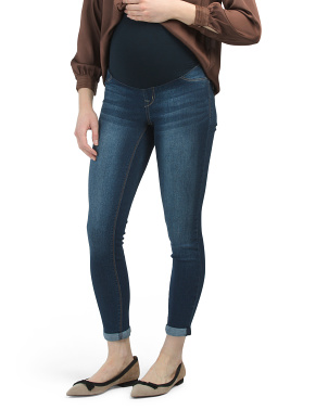 Maternity Over The Belly Roll Cuff Jeans