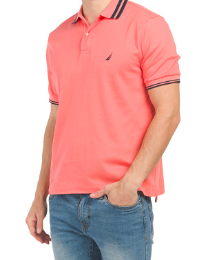 Short Sleeve Polo With Tipping