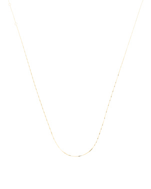 Made In Usa 14k Gold Box Chain Necklace