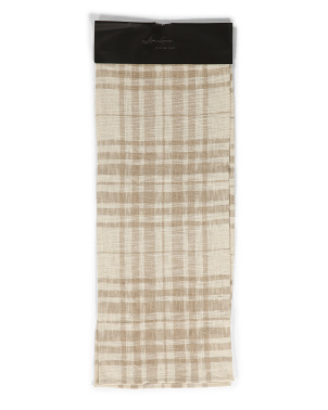 Pax Plaid Cotton Runner