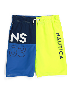 Big Boy Cove Color Block Swim Trunks