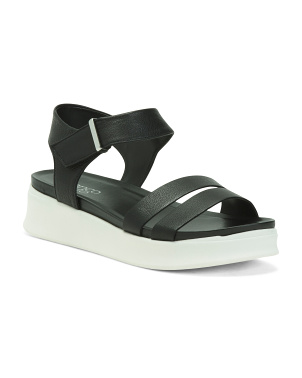 Leather Ankle Strap Sport Sandals