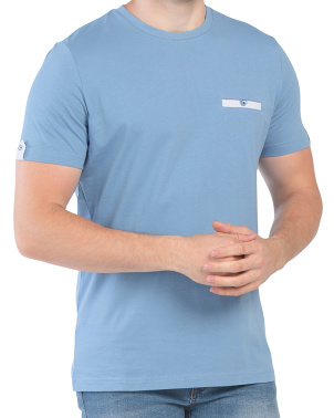 Pocket Sleeve Detail Short Sleeve Tee