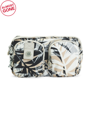 Nylon Navad Urban Palm Print Waist Pack