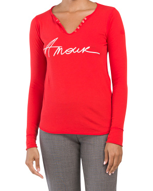 Tunisien Amour Henley Top
