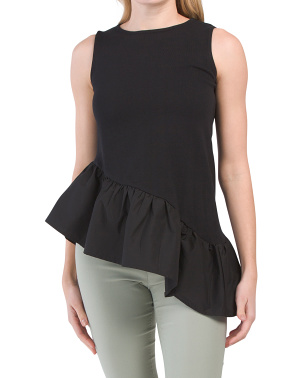 Sleeveless Asymmetrical Tunic Top