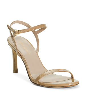 Made In Spain Double Band Patent Leather Dress Sandals