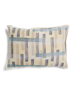 14x20 Printed Linen Pillow