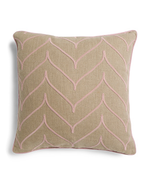 22x22 Linen Scroll Pillow