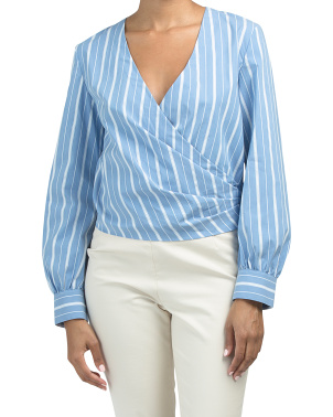 Long Sleeve Quincy Wrap Top