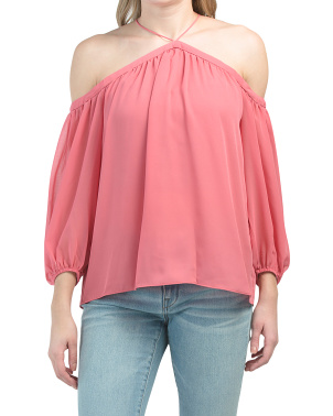 Chiffon Off The Shoulder Night Out Top
