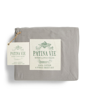 Cotton Vintage Sheet Set