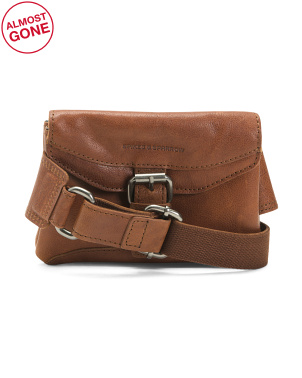 Leather Waist Bag With Buckle