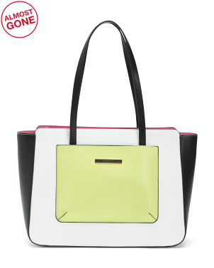Leather Michelle Pelle Tote