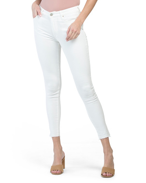 Gisele High Rise Ankle Fray Skinny Jeans