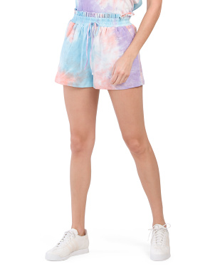Tie Dye High Waisted Knit Shorts