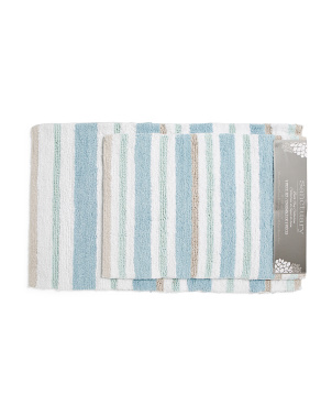 2pk Reversible Cotton Bath Rugs
