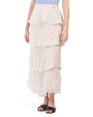Lurex Dot Layered Cover-up Skirt
