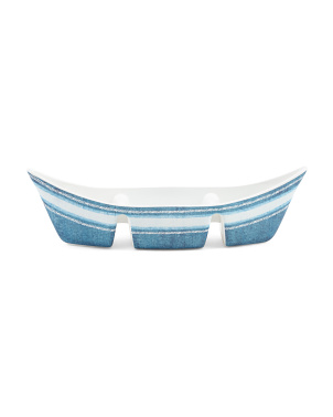 16in Outdoor Nautical Canoe Divided Bowl