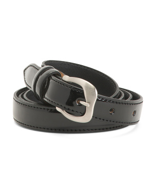 Made In Italy Patent Leather Belt