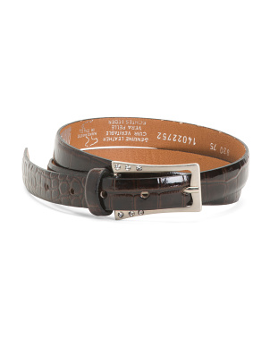 Made In Italy Patent Leather Crocco Belt