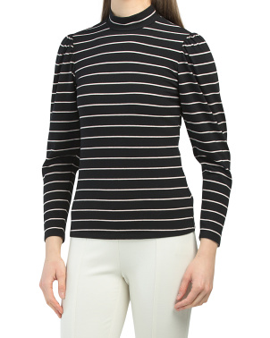 Long Sleeve Yarn Dyed Stripe Jersey Top