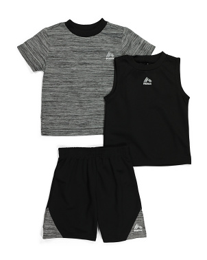 Toddler Boys 3pc Active Shorts Set