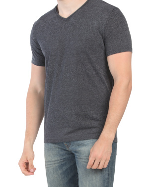 Edge Washed Rolled V-neck Tee