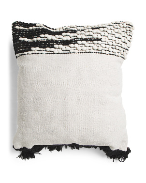 20x20 Hand Knotted Tassel Pillow