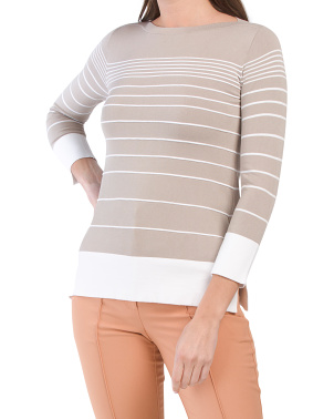 Made In Italy Striped Sweater