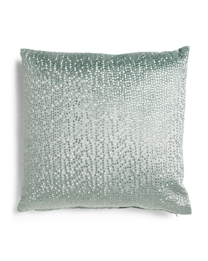 24x24 Oversized Metallic Embroidered Velvet Pillow