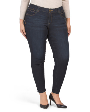 Plus Ab Technology Skinny Jeans