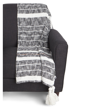 Organic Cotton Ollie Stripe Throw