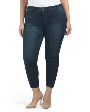 Plus Mid Rise Tummy Tuck Fit Solution Skinny Jeans