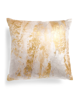 22x22 Velvet Pillow With Abstract Foil