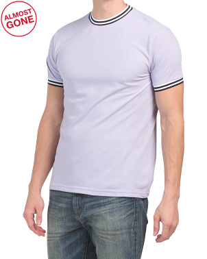 Short Sleeve T-shirt With Tipping