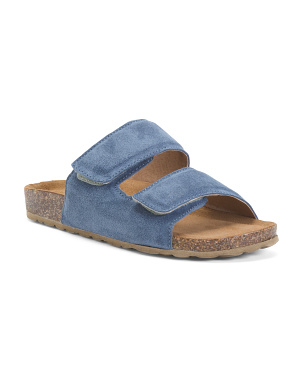 Made In Italy Two Band Suede Sandals