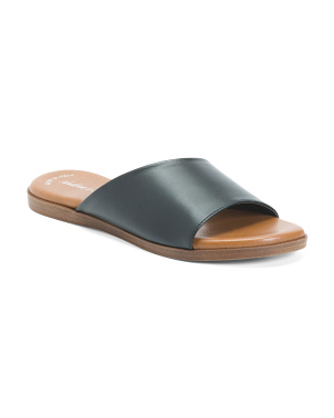 Made In Italy Leather Asymmetrical Sandals