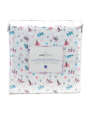 3pc Insect Love Twin Sheet Set