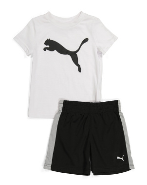 Toddler Boys 2pc Tee And Short Set