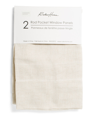 Set Of 2 Rashel Solid Linen Look Curtains