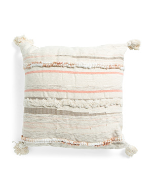 22x22 Boho Textured Pillow