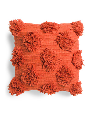 18x18 Solid Pom Pom Pillow