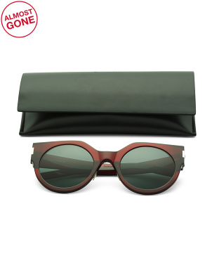 52mm Round Designer Sunglasses