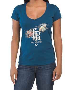 Bouquet Slim V-neck Tee